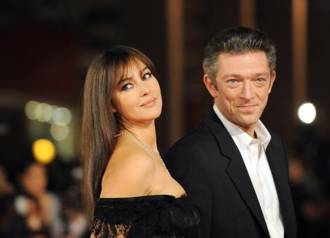 Monica Bellucci con l'ex marito Vincent Cassel