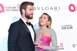 Liam Hemsworth con la moglie Miley Cyrus
