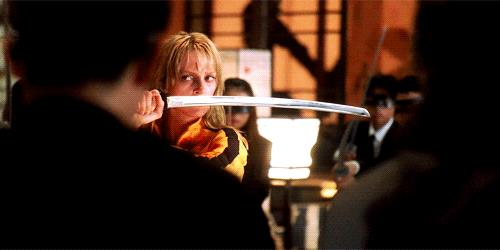 Uma Thurman in una scena di Kill Bill