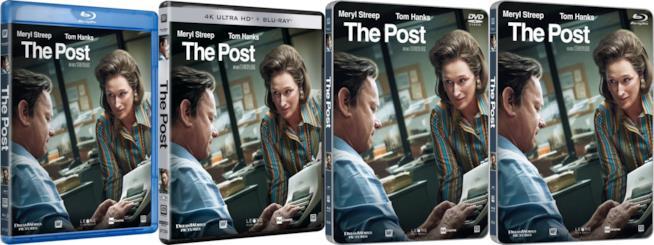 Le versioni home video di The Post