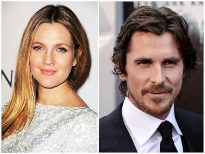Drew Barrymore e Christian Bale
