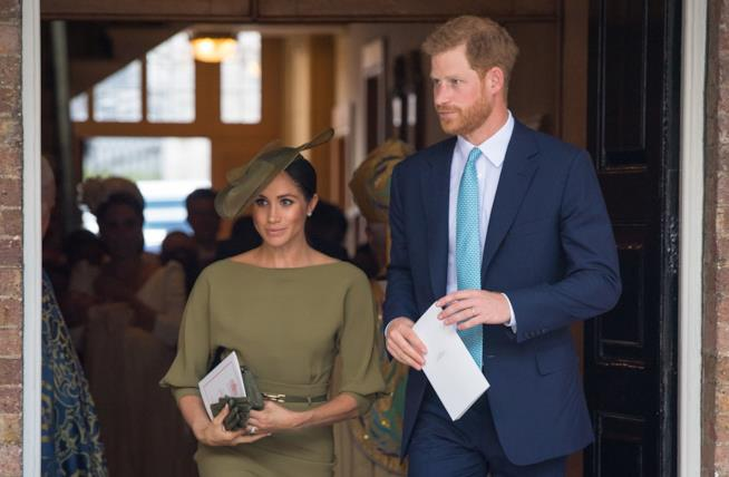 Harry e Meghan al battesimo di Louis
