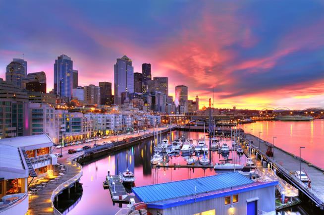 Il lungomare di Seattle