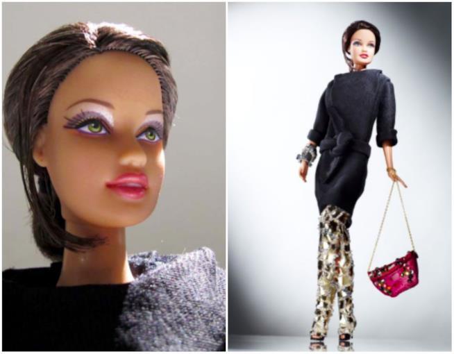 Primo piano e figura intera di Barbie Devi Kroell