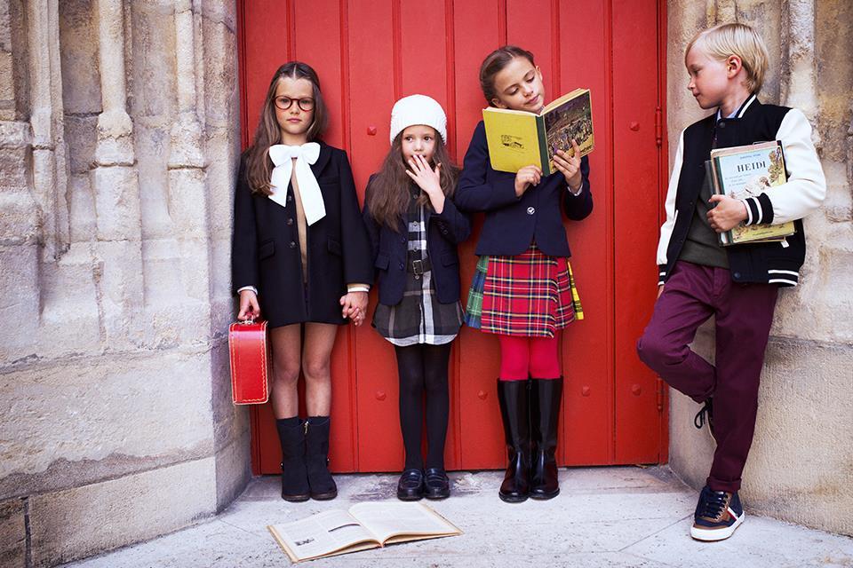 vestire i bambini in inverno al rientro dalle vacanze per andare a scuola