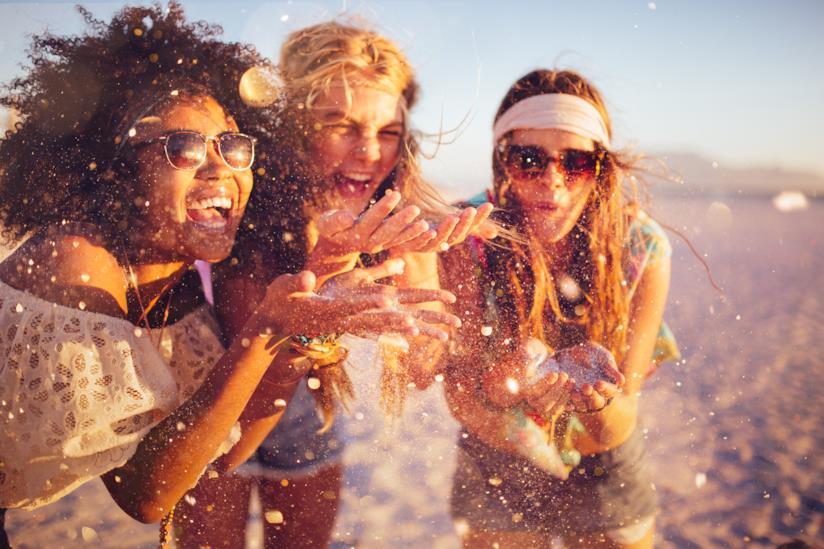 Acconciature festa in spiaggia