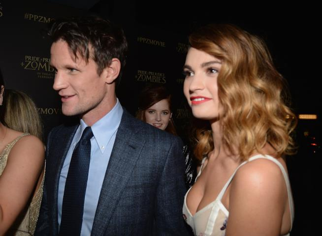 Lily James e Matt Smith