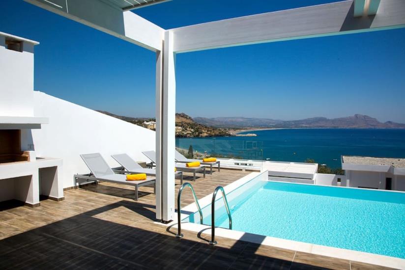 Villa con piscina a Lindos affittata su Airbnb