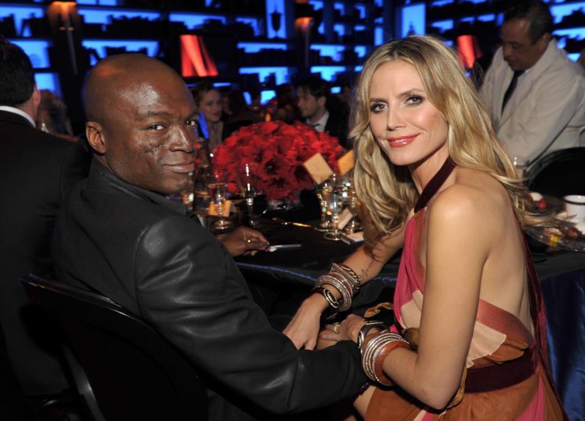 Heidi Klum con l'ex marito Seal