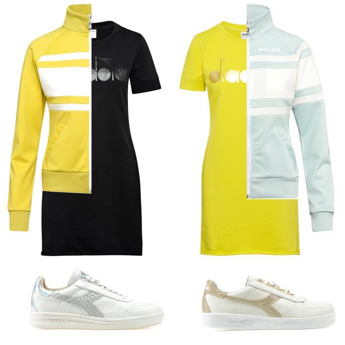 Diadora Sportswear L. DRESS BL T-shirt lunga con logo - Donna