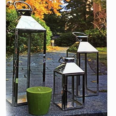 Set di 3 lanterne da giardino