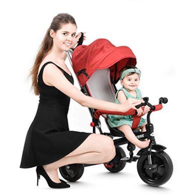 Triciclo passeggino rosso