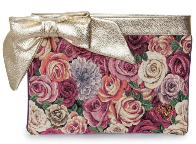 La borsa elegante bordata di oro di tendenza per l'estate 2018
