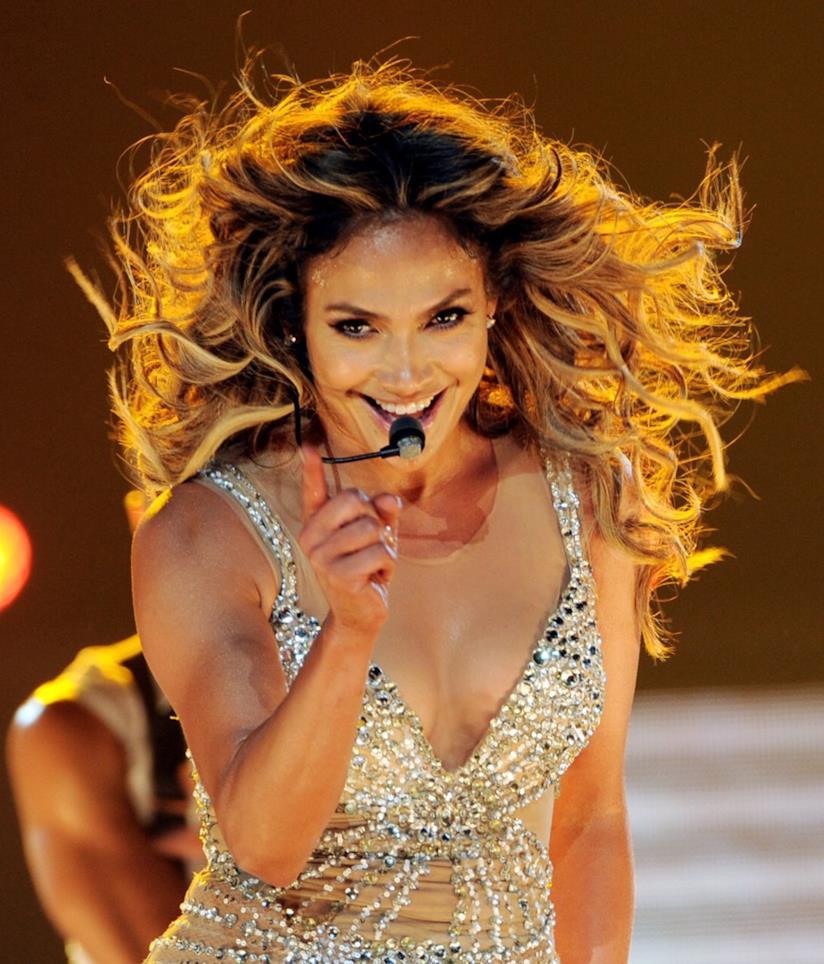 Jennifer Lopez durante una sua performance