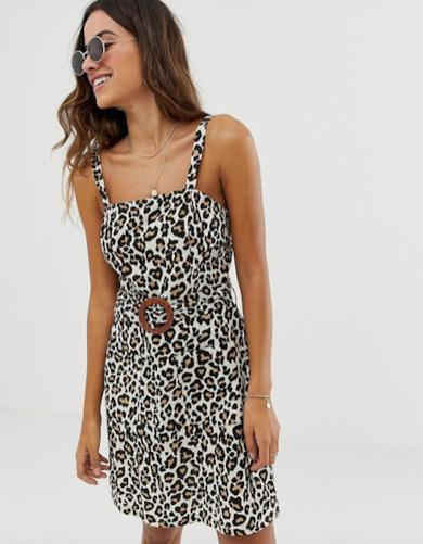 Mini dress leopardato