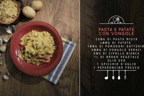 Pasta e patate con le vongole