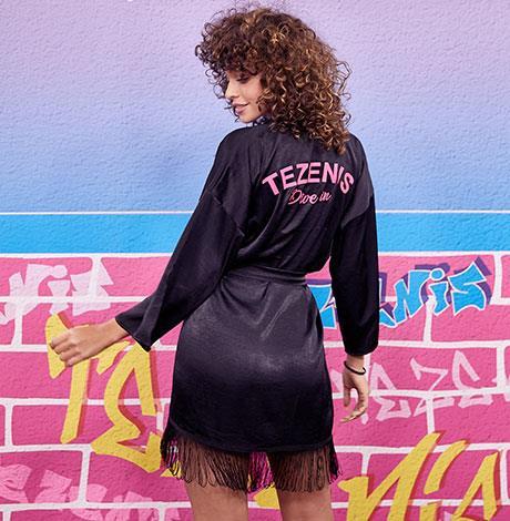 Modella dietro le quinte di Tezenis Fashion show