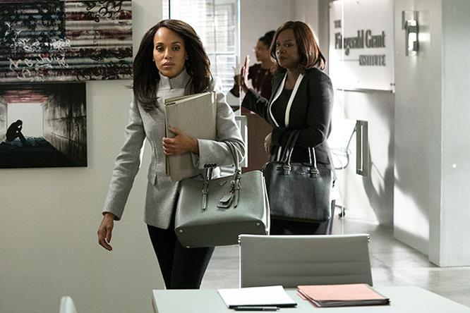 Olivia e Annalise in una scena del crossover