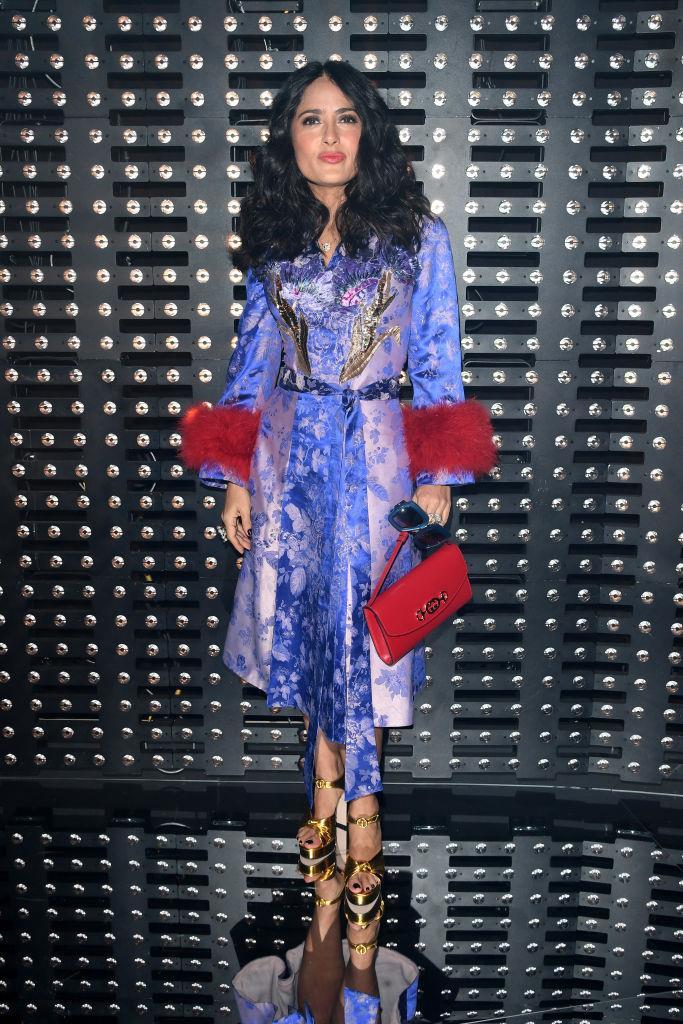 L'attrice Salma Hayek da Gucci