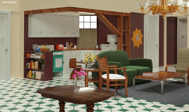 Appartamento di Monica anni Trenta