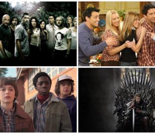 Lost, Friends, Stranger Things, Il Trono di Spade