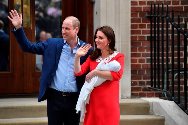 Kate Middleton, il Principe William e Louis