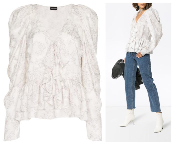 Rouches e volant per la blusa di moda autunno 2018