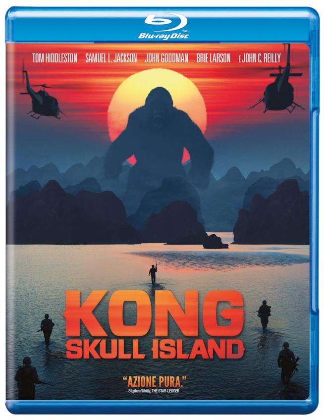 La copertina del Blu-Ray di Kong: Skull Island