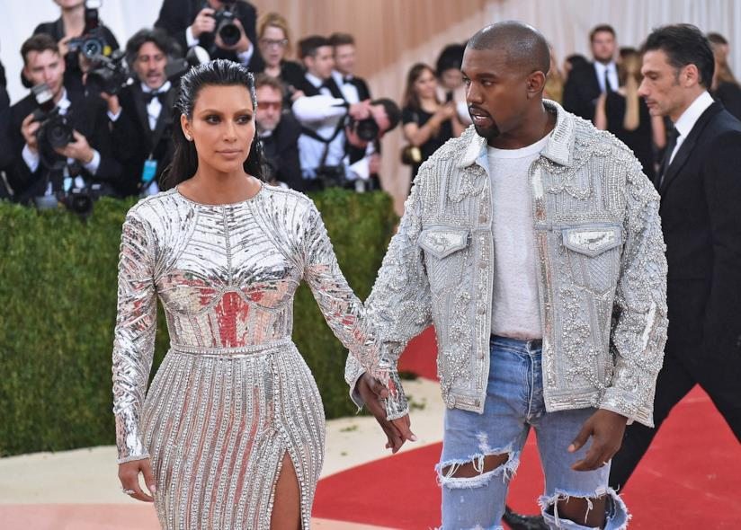 Kim Kardashian e Kanye West sul red carpet