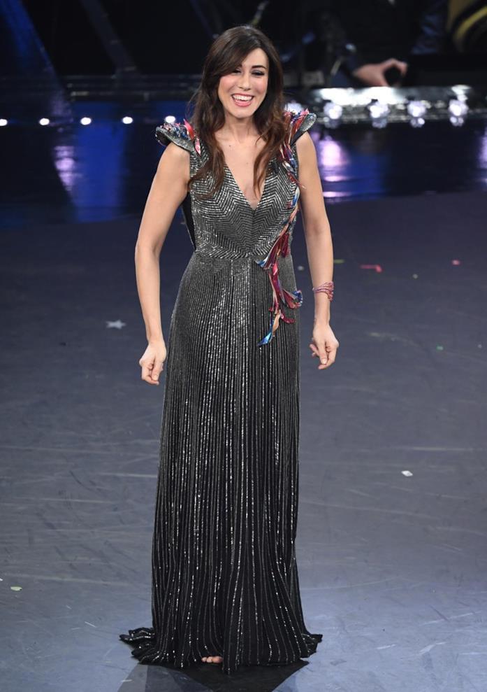 Virginia Raffaele durante la seconda serata di Sanremo 2019