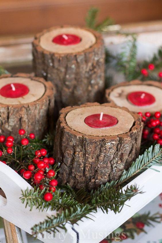 Lavoretti Di Natale Con Le Candele.I Piu Bei Centrotavola Natalizi