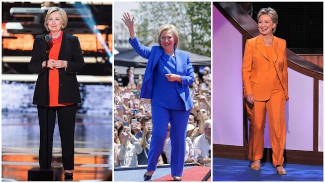 Il look uniforme di Hillary Clinton