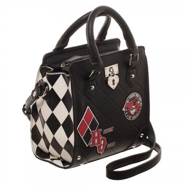 La borsa di Harley Quinn vista di lato