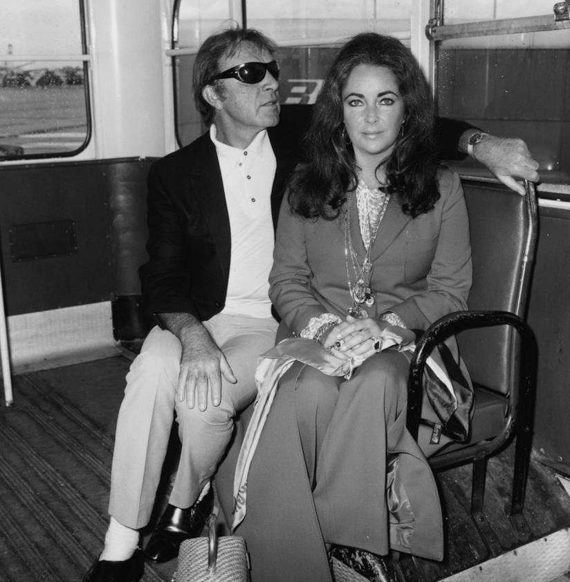 Richard Burton con Liz Taylor