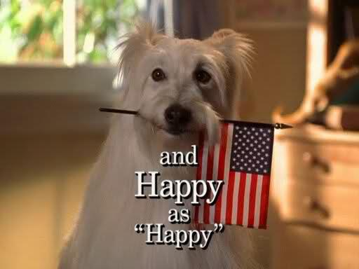Il cagnolino Happy (interpretato da Happy) nella sigla di Settimo Cielo