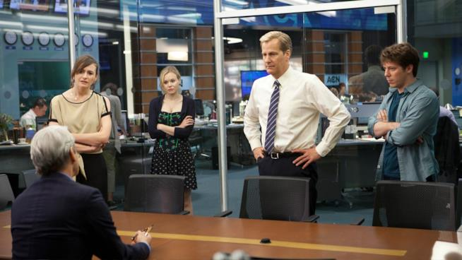 Una scena della prima stagione di The Newsroom