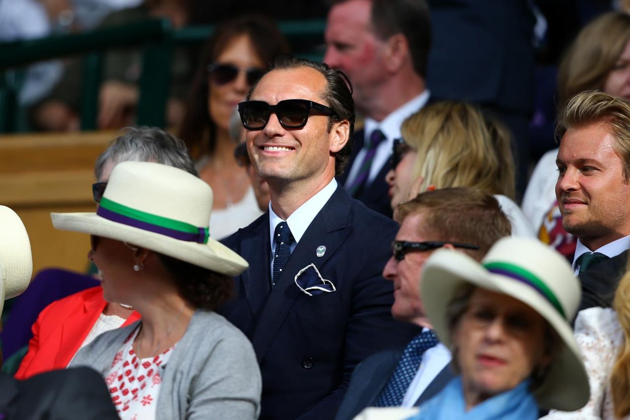 Jude Law a Wimbledon 2017