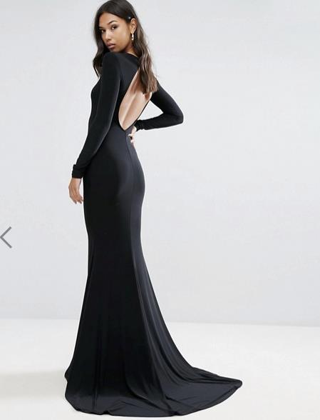 Vestito lungo nero Asos