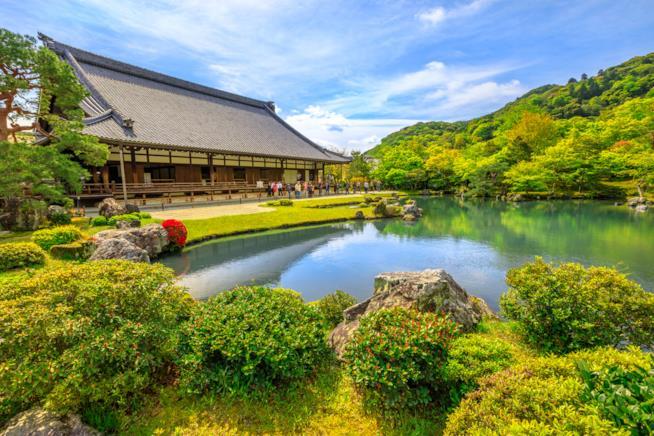 Il tempio Tenryu-ji ad Arashyiama e il suo giardino Sogen Pond