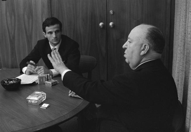 Alfred Hitchcock e Francois Truffaut durante la loro conversazione