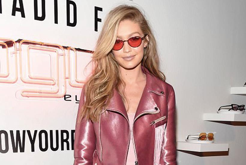 Gigi Hadid in rosa al party Vogue Eyewear