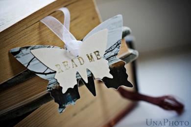 Segnalibro READ ME a farfalla