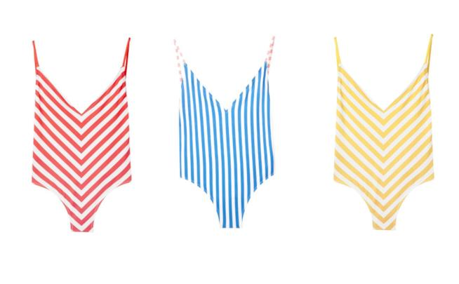 A righe colorate, i costumi di tendenza per l'estate 2018