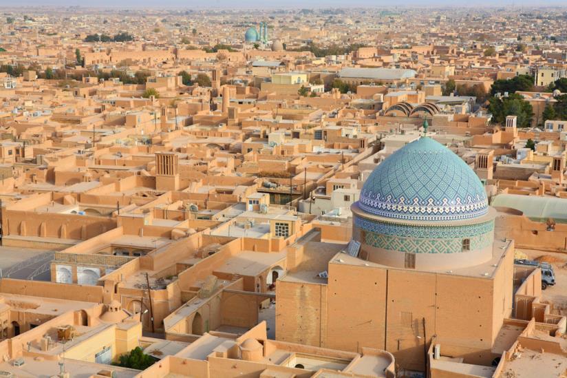 La caratteristica edilizia, in terra cruda, di Yazd