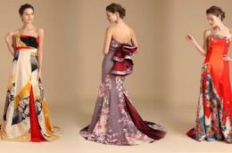 Kimono ridisegnati e reinventati come abiti da sposa