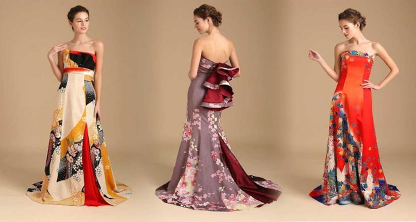 bf7d3a29faaa1a Kimono ridisegnati e reinventati come abiti da sposa