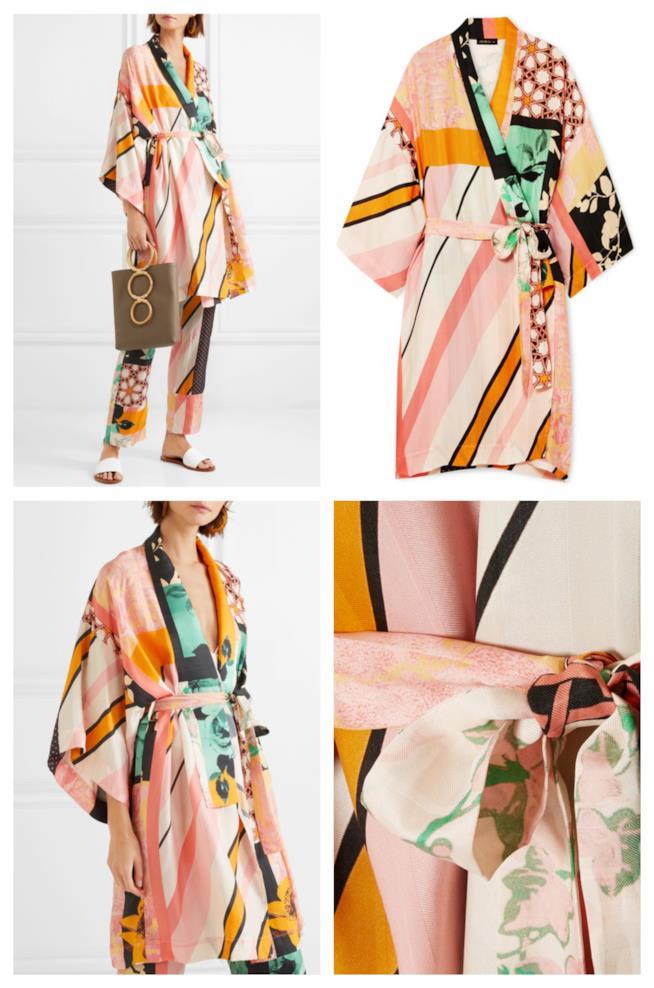 Con la fantasia patchwork, il kimono di tendenza per l'autunno 2018