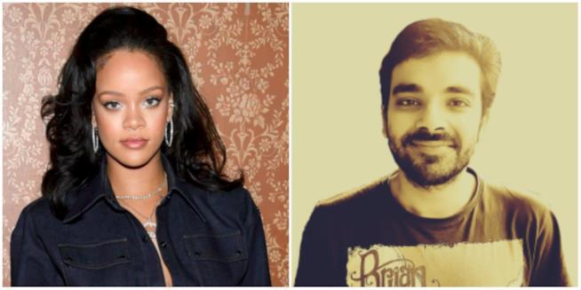 Rihanna e Eduardo Leon in un collage