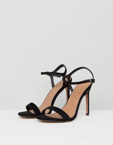 Sandali effetto nudo con tacco