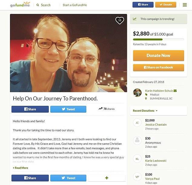 Jessica Chastain ha donato 2mila dollari a Karin Schulz